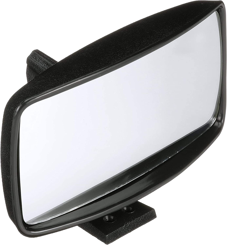 8 x 4 Inch Convex Safety Glass Black ABS Plastic Housing Seachoice 79501 Universal Boat Mirror