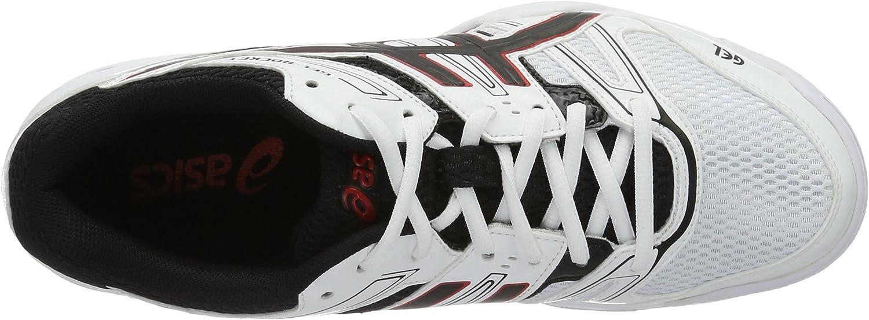 ASICS Herren Gel-Rocket 7 Volleyballschuhe, schwarz Mehrfarbig (White/Black/Vermilion)