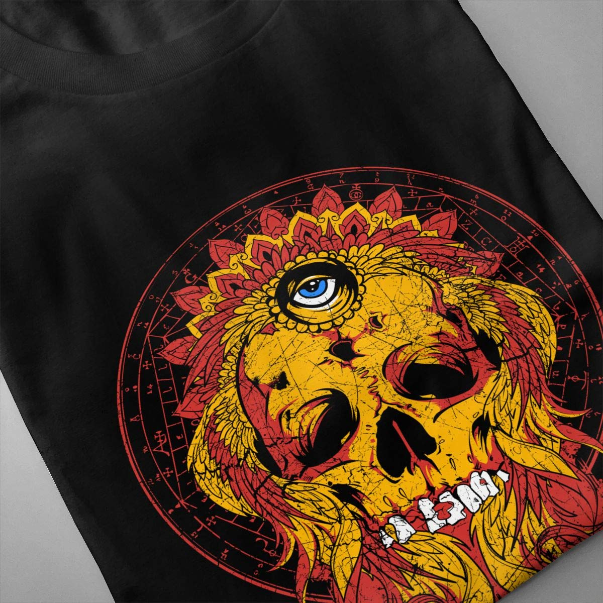 Eye Skull Mens Short Sleeve T-Shirt Fashion Tops Shirt Slim Fit Casual Tees