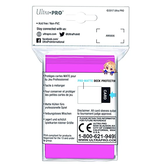 Amazon.com: Ultra Pro Pequeño Rosa Brillante Pro-Matte (60 ...