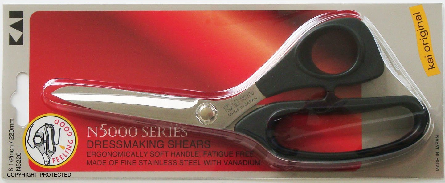 Tijera : Kai 5220 8 1/2 Inch Black Handle Scissors...