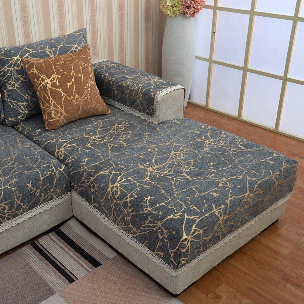 Sofa towel covers Sectional sofa covers Sofa slipcover Sofa set cover Couch cover for sectional Urniture slipcovers Slipcovers for couches and loveseats-Gray stripes 90x260cm(35x102inch)