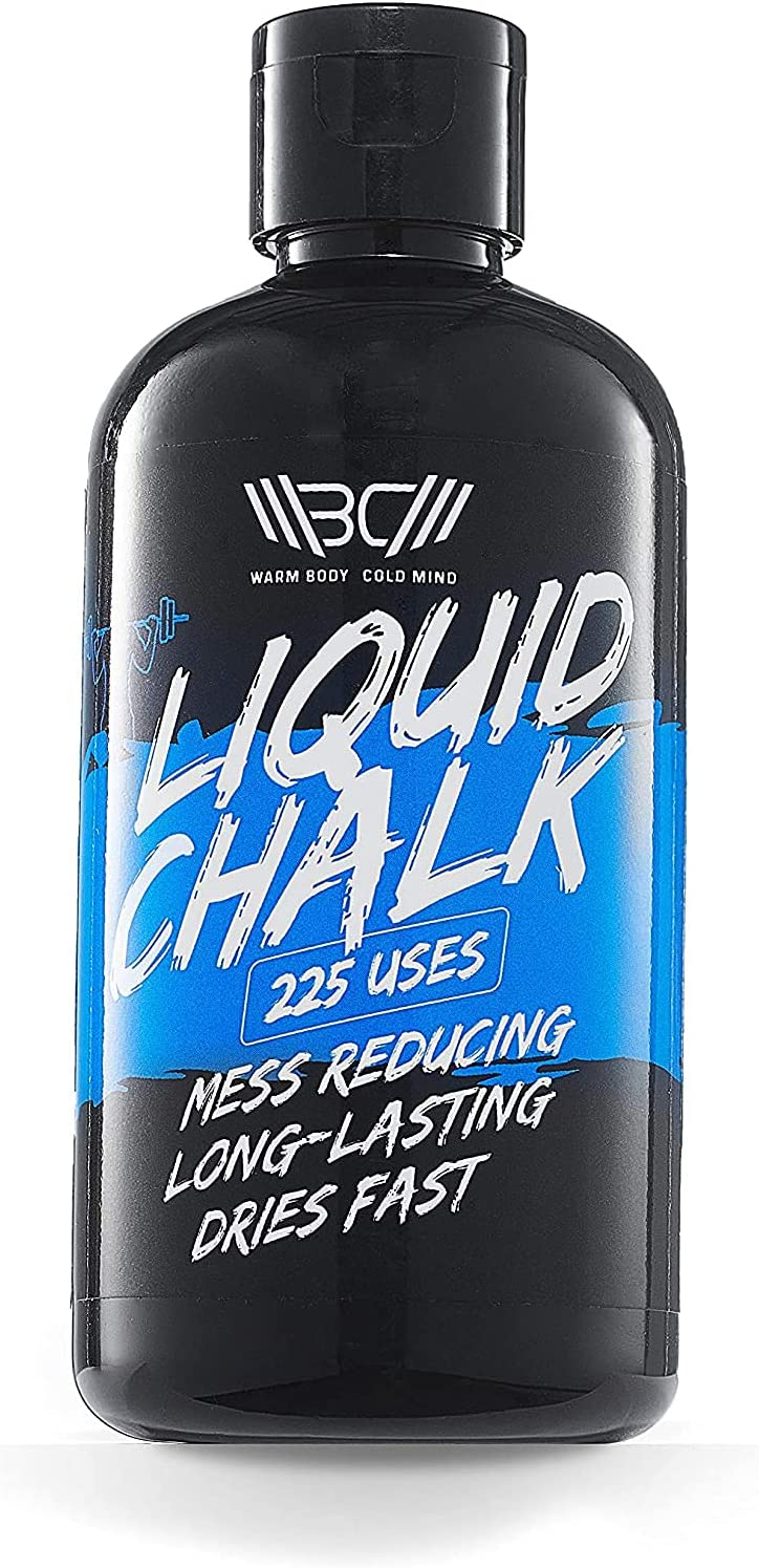 WARM BODY COLD MIND Liquid Chalk Improves Grip for Crossfit, Weightlifting, Powerlifting, Deadlifting, Gymnastics, Climbing, Pole Dancing, No Mess (250ml) : Sports & Outdoors