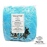 Valutek VTSHCVASESDLF-L Polypropylene ESD Anti-Skid Cleanroom Shoe Cover [Elastic Ankle Cuff, Blue, Large] 300 Pieces
