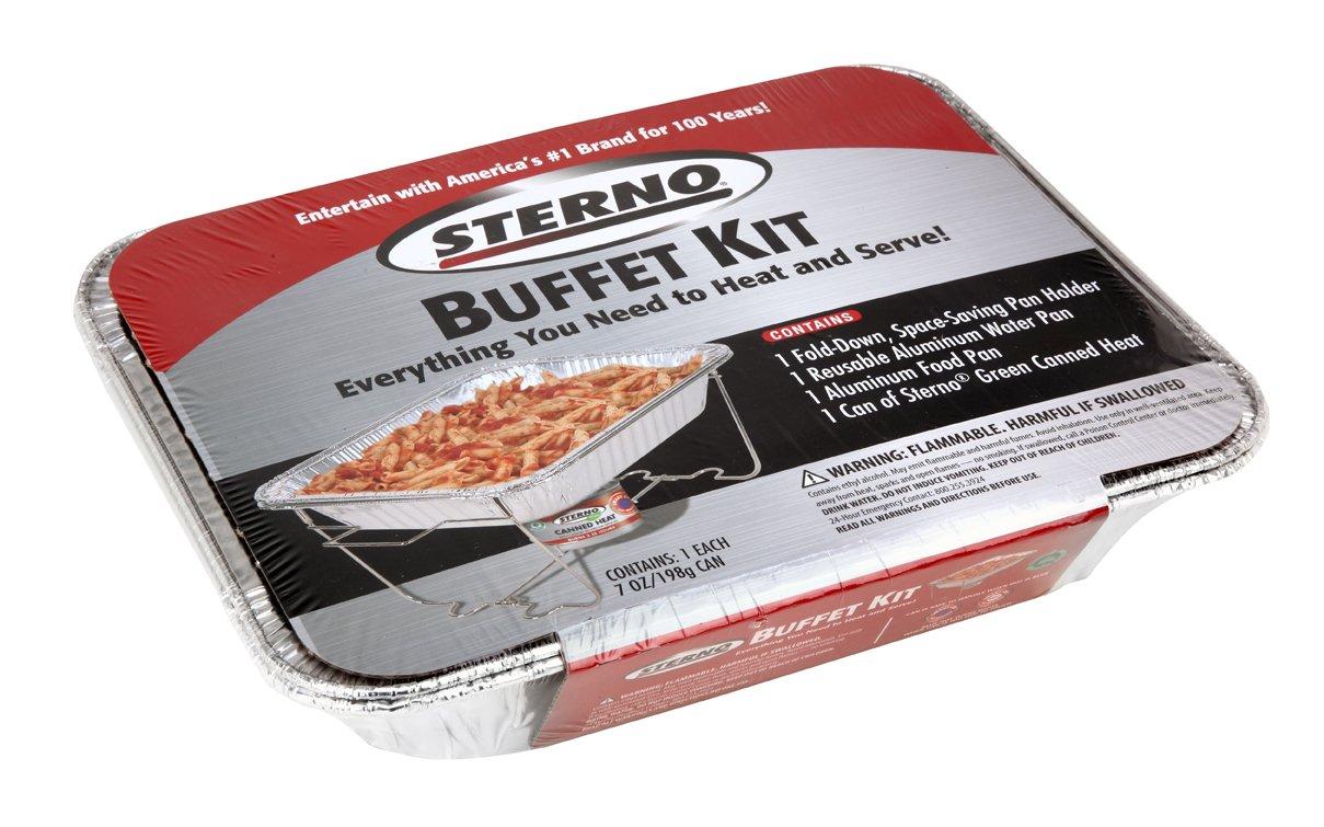 amazon com sterno 70182 full size buffet kit kitchen dining rh amazon com Sterno for Food Sterno Pans Size