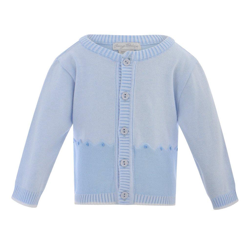 Carriage Boutique Baby Boys Light Blue Crewneck Sweater