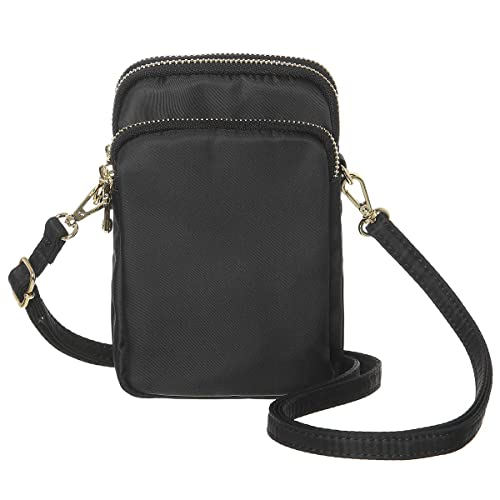 MINICAT Nylon Small Crossbody Bags Cell Phone Purse Smartphone Wallet For  Women (Black) 3e89179d347ee