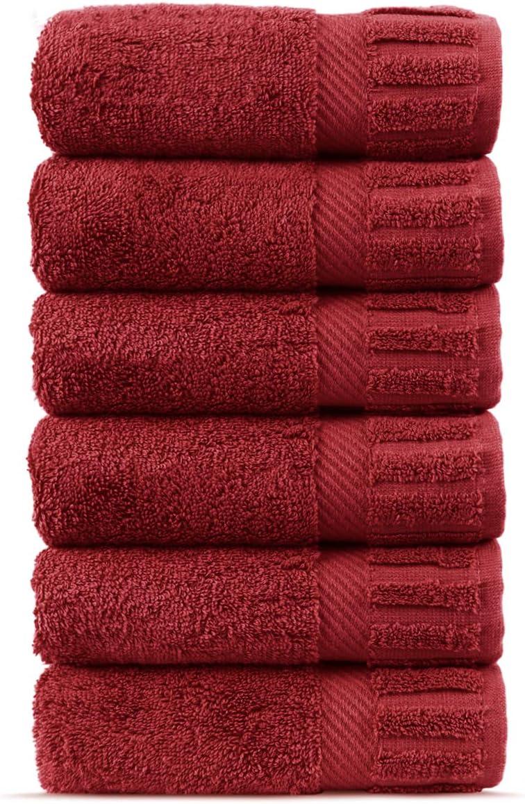 Chakir Turkish Linens Luxury Hotel /& Spa Collection Turkish Cotton Piano Key Border Bath Towel Moss, Set of 4