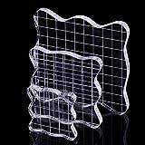 CCINEE アクリルパネル アクリルブロック クリア スタンプ サポート道具 三個セット 大 中 小
