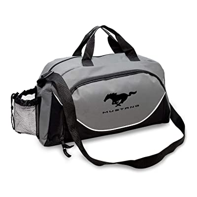 CarBeyondStore - Ford Mustang Large Travel Carry on Duffel Bag (Gray/Black): Automotive
