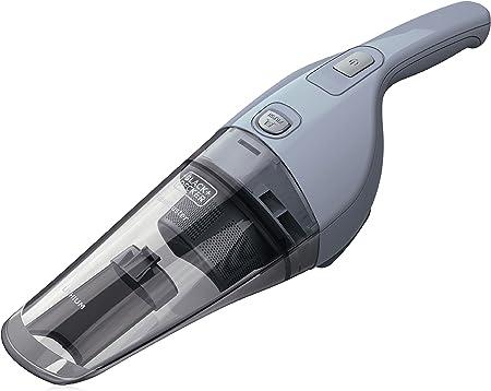 Black & Decker NVB215W-QW Sin bolsa Gris, Transparente - Aspiradora (Secar, Filtrado, 882 l/min, Sin bolsa, 0,37 L, Gris, Transparente): Amazon.es: Hogar