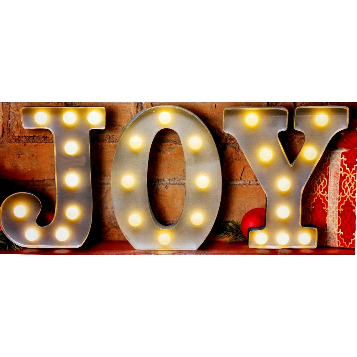 Amazon.com: JOY - LED Illuminated Vintage Marquee Metal Sign ...