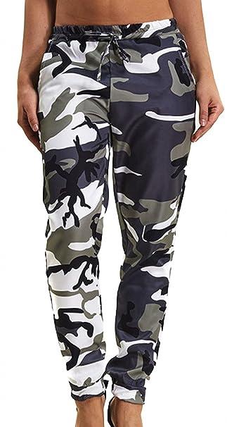 1f855f9098e1b Femme Pantalon Militaire Fashion Elégante avec Cordon De Serrage Pantalon  Sport Eté Outdoor Fille Vêtements Mouvement
