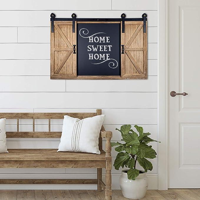 Amazon.com: Rustic Wood Chalkboard with Four 4x6 Hideaway ...