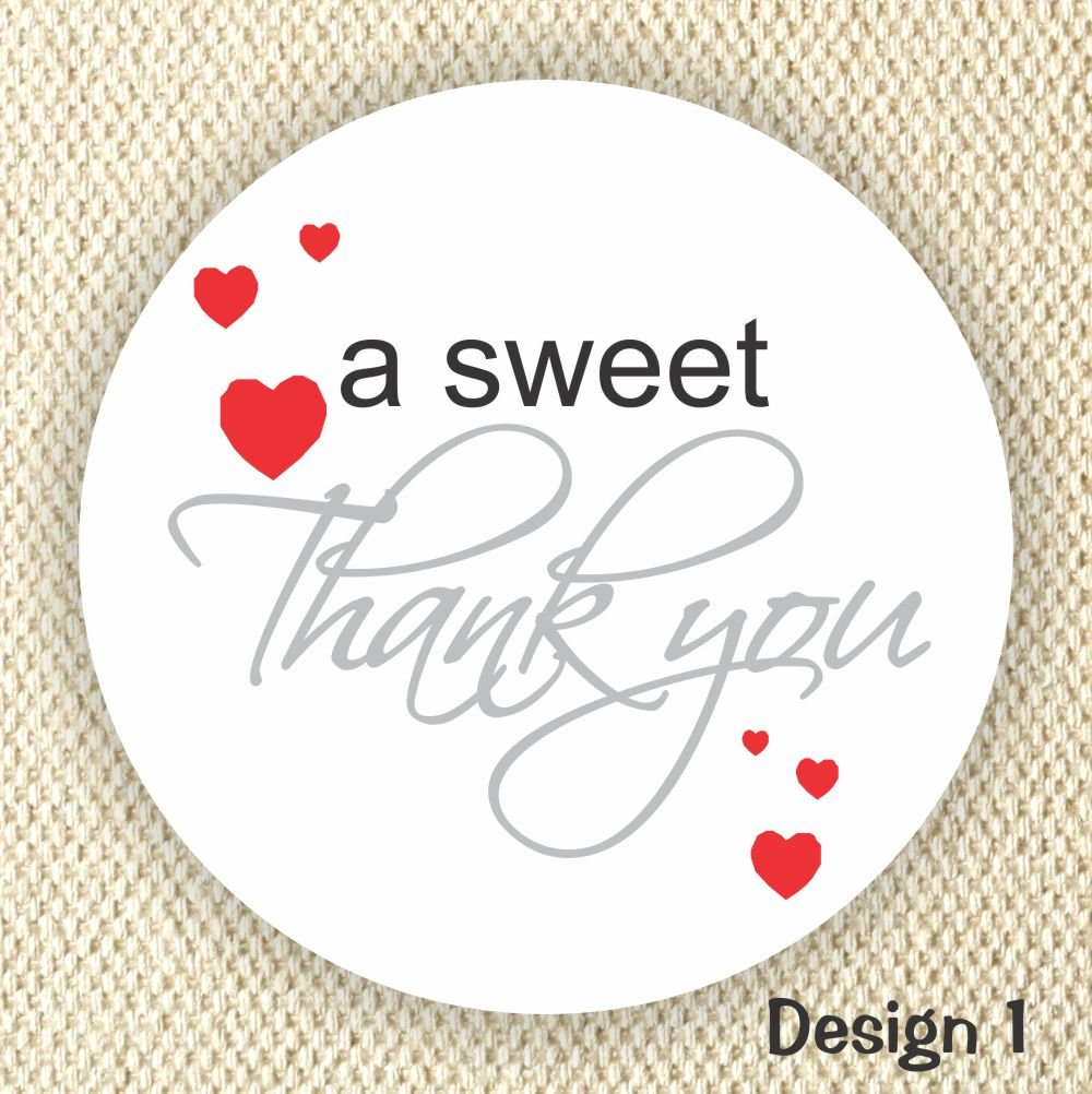 Thank you stickers wedding stickers anniversary stickers favor stickers heart stickers sweet thank you stickers