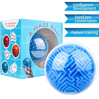 Toy For Kids Mini Magic Ball Magic 3d Labyrinth Ball Three-dimensional Maze Puzzle Intelligence Passes Child Birthday Gift Cheap Sales Toy Balls