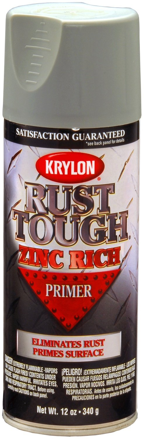 Krylon K09240007 Rust Tough Enamel Spray Paint Primer Zinc, 12-Ounce Aerosol