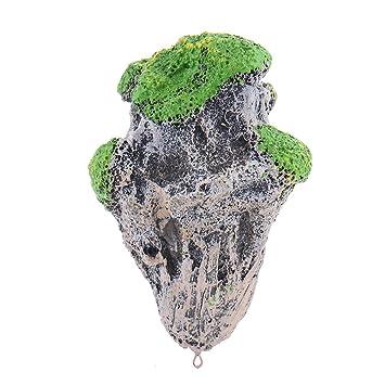 Adornos para acuario, piedra flotante, forma irregular, decoración de resina, simulación de roca: Amazon.es: Productos para mascotas