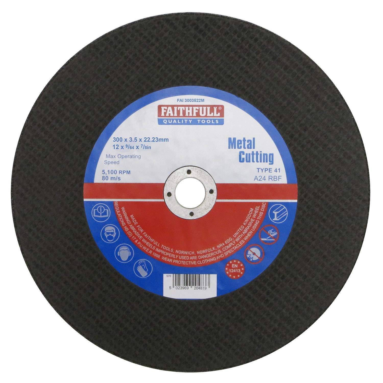 Faithfull - Trennscheibe fü r Metall 300 x 3, 5 x 22mm - FAI3003522M