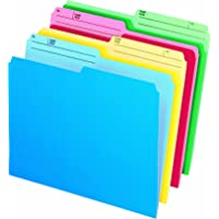 Pendaflex Cutless Watershed File Folders, Letter, Assorted, 24/Pack - 48443C