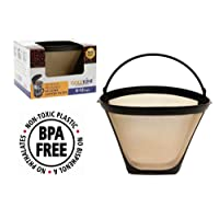 GoldTone Brand Reusable #4 Cone Style Replacment Cuisinart Coffee Filter replaces your Permanent Cuisinart Coffee Filter for Cuisinart Machines and Brewers (1)
