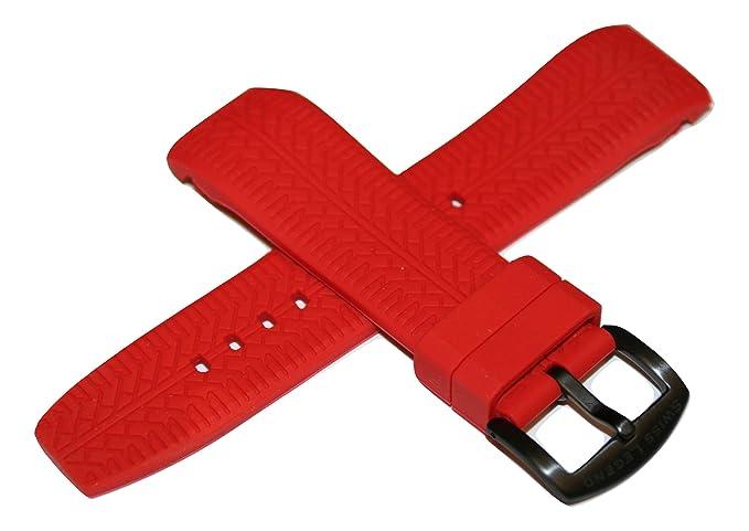 Swiss Legend Correa de Reloj de Silicona roja de 26 mm y Hebilla Negra de Acero Inoxidable para Reloj Sprinter de 47 mm: Amazon.es: Relojes