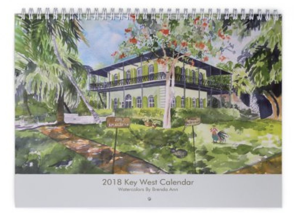 Amazon.com: 2019 Key West Wall Calendar - Hemingway House, Blue ...