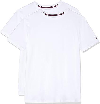 Tommy Hilfiger de los Hombres Pack de 2 Camisetas de algodón, Blanco: Amazon.es: Ropa y accesorios