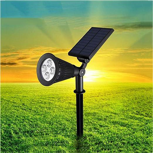 YaXuan Focos solares del césped, proyector Impermeable del Paisaje ...