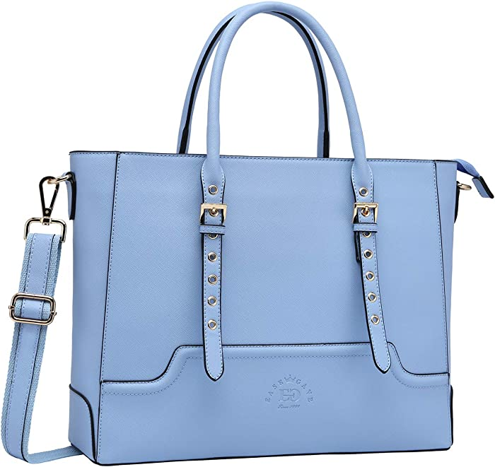 15.6 Inch Laptop Tote Bag for Women, Trend Work Bag Women Business Computer Bag for School Office Travel by EaseGave,Baby Blue Jay
