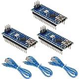 WYPH Mini Nano V3.0 Module ATmega328P 5V 16MHz CH340G Chip Microcontroller Development Board USB Cable for Arduino (Pre…