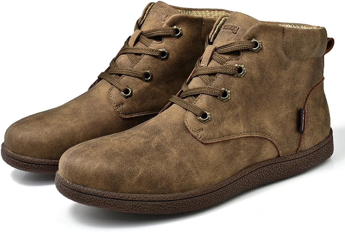 TALLA 45 EU. Botines Desert Hombre Invierno, Gracosy cuero Zapatos Botines de gamuza Botas de tobillo Botas Casuales desierto de ante Zapatos Deportes al aire libre Boots
