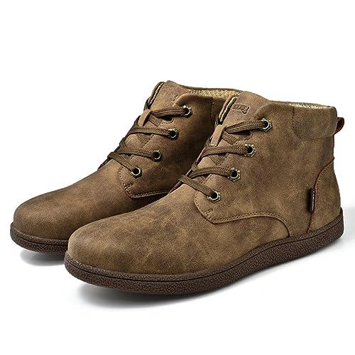 Botines Desert Hombre Invierno, Gracosy cuero Zapatos Botines de gamuza Botas de tobillo Botas Casuales desierto de ante Zapatos Deportes al aire ...