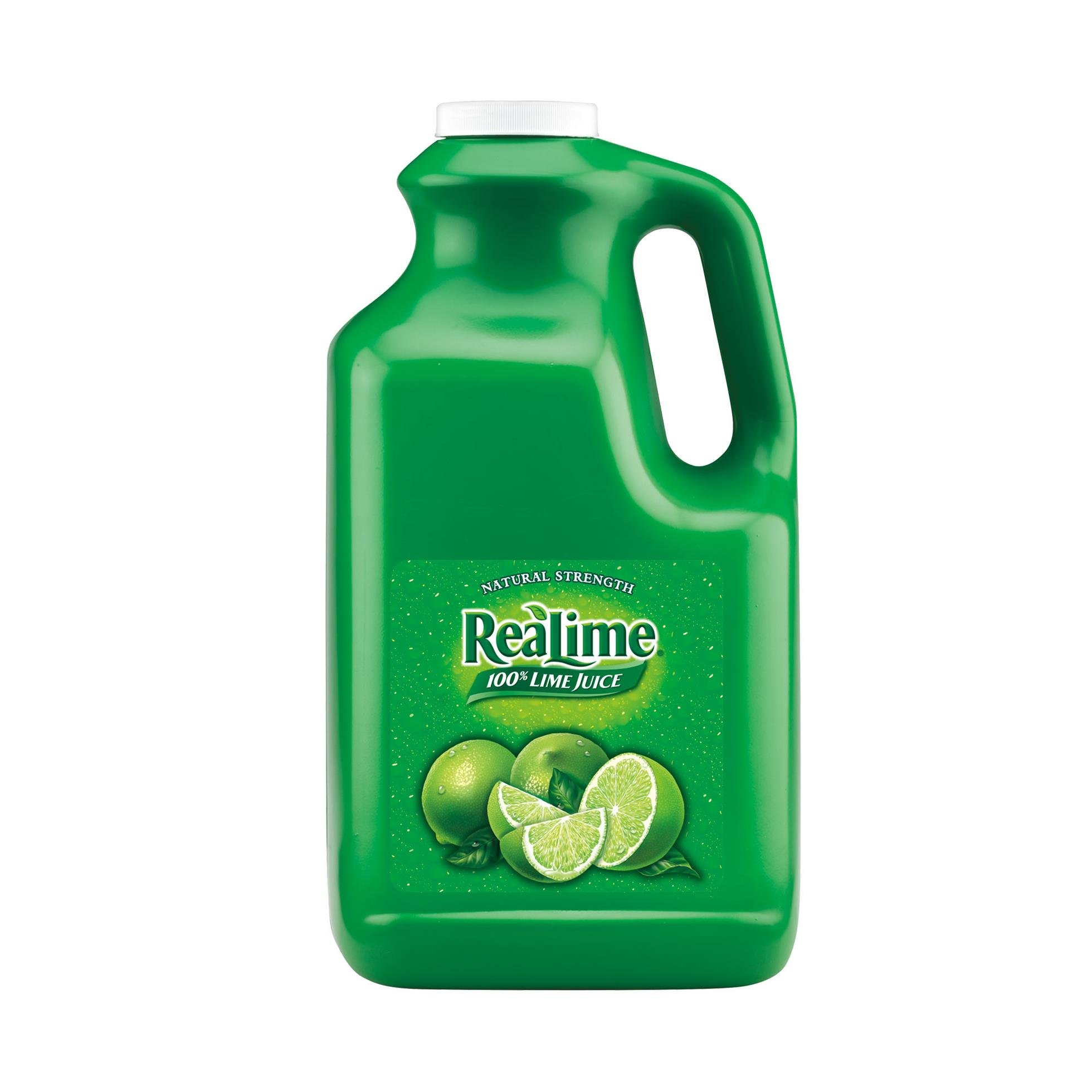 ReaLime 100% Lime Juice, 1 gal bottles (Pack of 4)