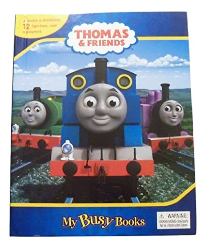 Amazon thomas friends busy book meet the engines storybook thomas friends busy book meet the engines storybook 12 figurines and playmat m4hsunfo