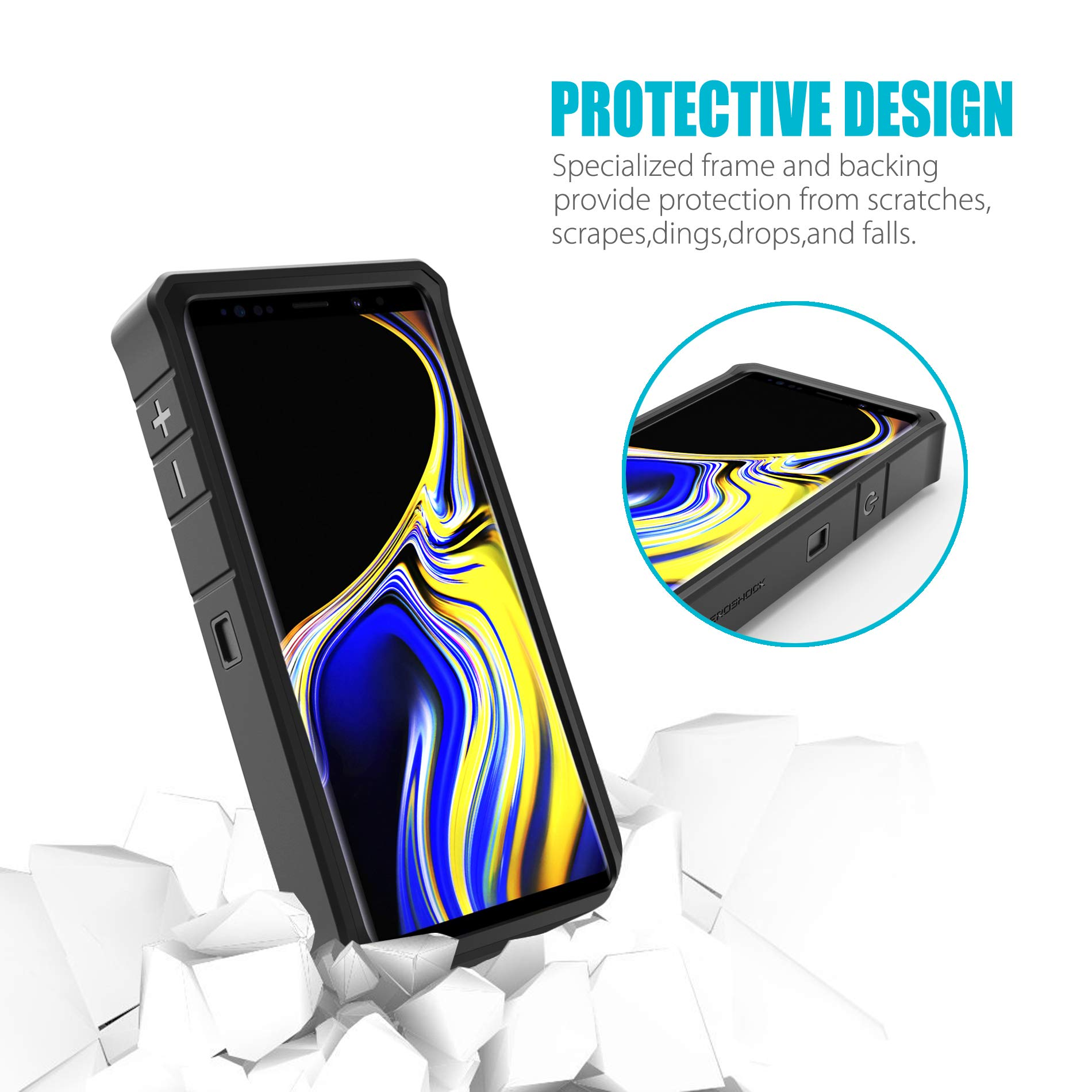 Galaxy Note 9 Battery Charging Case, ZeroLemon ZeroShock 10000mAh Extended Rechargeable Battery Rugged Case with Full Edge Protection for Samsung Galaxy Note 9 - Black by ZEROLEMON (Image #4)