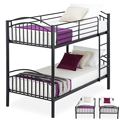 Amazon Com Mecor Bunk Beds Twin Over Twin Convertible Metal Bunk