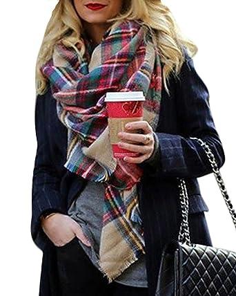 bfb618c3ee08 ShallGood Elégante Écharpe Châle Etole Beaucoup De Couleurs Femme Cachemire  Chaud Automne Hiver Grand Plaid Tissu