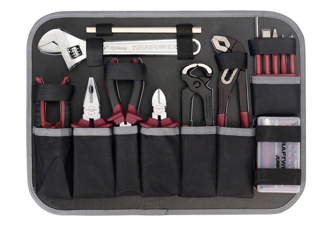 KWJ noir//argent/é Kraftwerk 1050 228 Coffret /à outils en plastique ABS