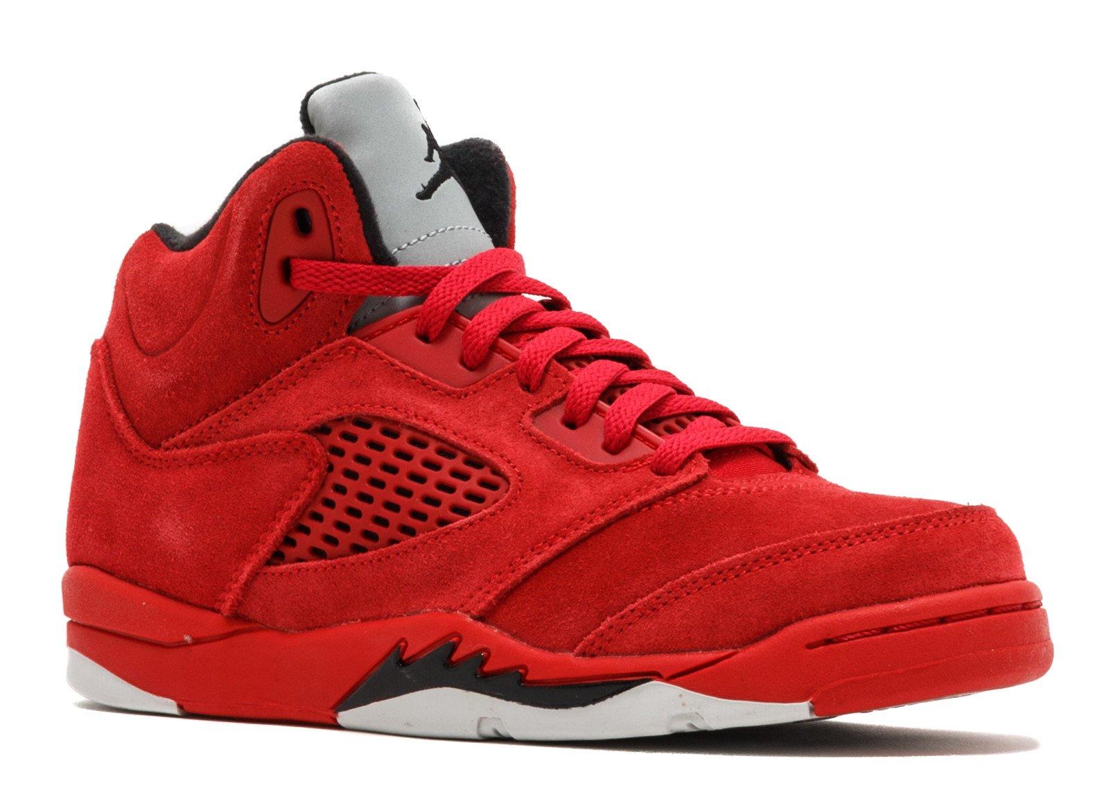 watch 59a60 7c2f2 Jordan Kids 5 Retro BP Sneaker (University Red/Black, 2 M US Little Kid)