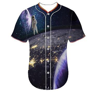 Hombre nniuquxnn camiseta de béisbol Jersey camisetas 3d ...
