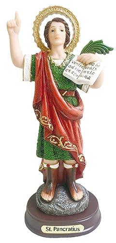 Love s Gift. San Pancracio Statue Catholic. Saint Pancras of Rome Pancratius Sculpture 12 Inch