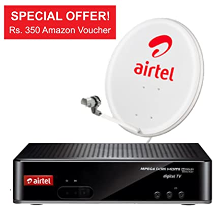 Airtel Digital TV HD + with My Sports Pack, 350 Amazon