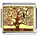 LuckyJewelry Tree of Life Nomination Etched Italian Charm Sale Cheap fit Bracelet Link