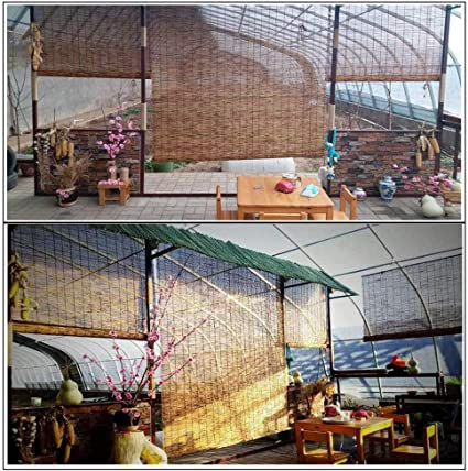50x80cm//20x32in Balcons pour Salon,Terrasses Rideau en Roseau Rideaux en Bambou Romain Store /à Enrouleur Cr/ème Solaire,Volets de Levage de Paille,70/% Store Occultant,Pare-Soleil Galeries