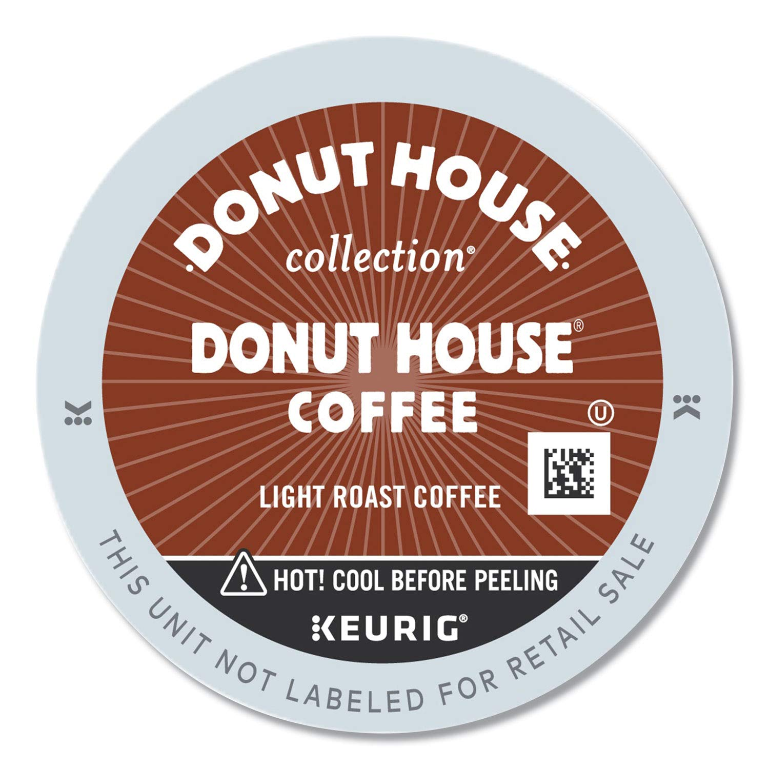 Donut House Collection, Donut House Coffee, Single-Serve Keurig K-Cup Pods, Light Roast, 96 Count (4 Boxes of 24 Pods)