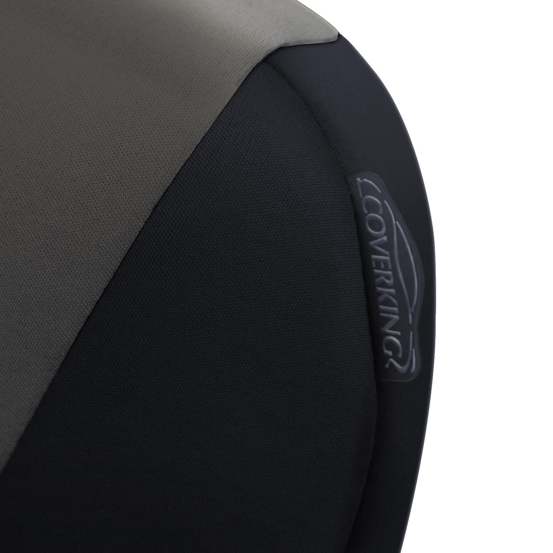 Coverking Custom Fit Front 50//50 Bucket Seat Cover for Select Toyota Highlander Models Black Neosupreme Solid