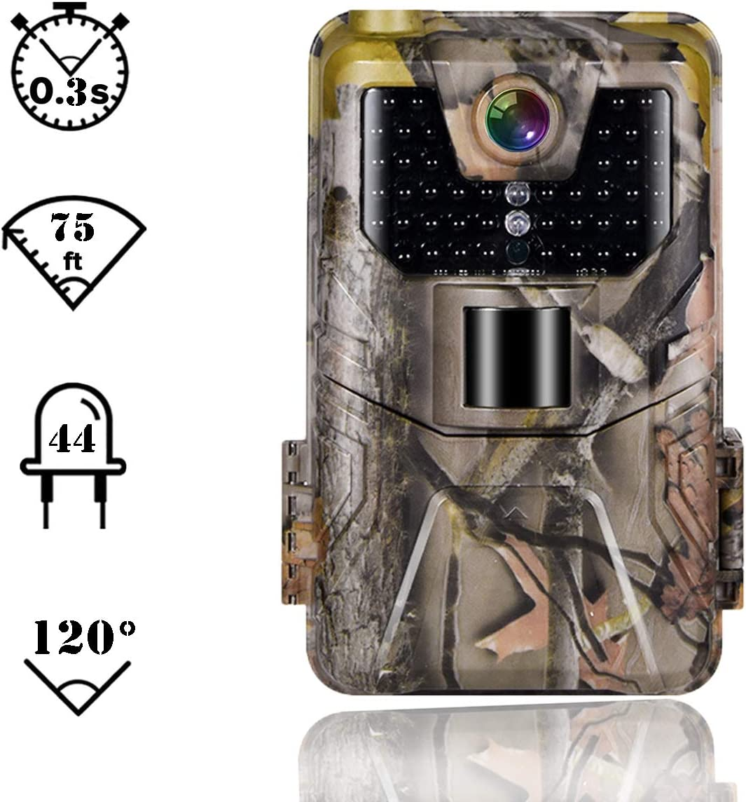 Suntekcam Trail Camera 24MP 1080P Game Camera Motion Activated Night Infrared Vision IP66 Waterproof Outdoor Scouting Wildlife Hunting Camera