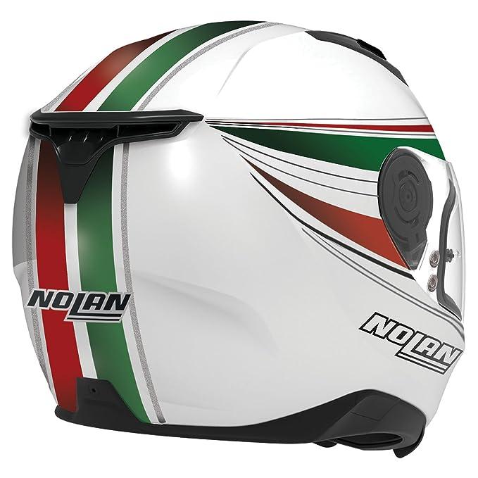 Amazon.es: Nolan N87 Italy Integral casco moto policarbonato N- Com - Metal Blanco Tamaño S