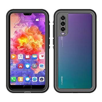 Moonmini Funda Impermeable Huawei P20 Pro, [Resistente a los Rayones] [Protección de 360 Grados], Carcasa con Protector de Pantalla Incorporado para ...